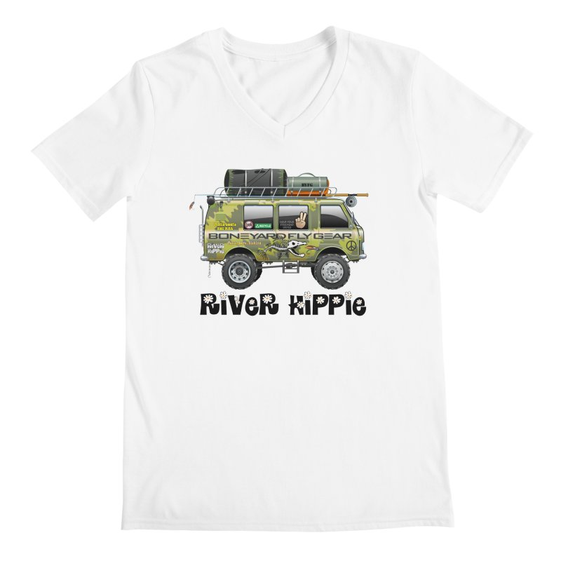 River Hippie Men's V-Neck by Boneyard Studio - Boneyard Fly Gear