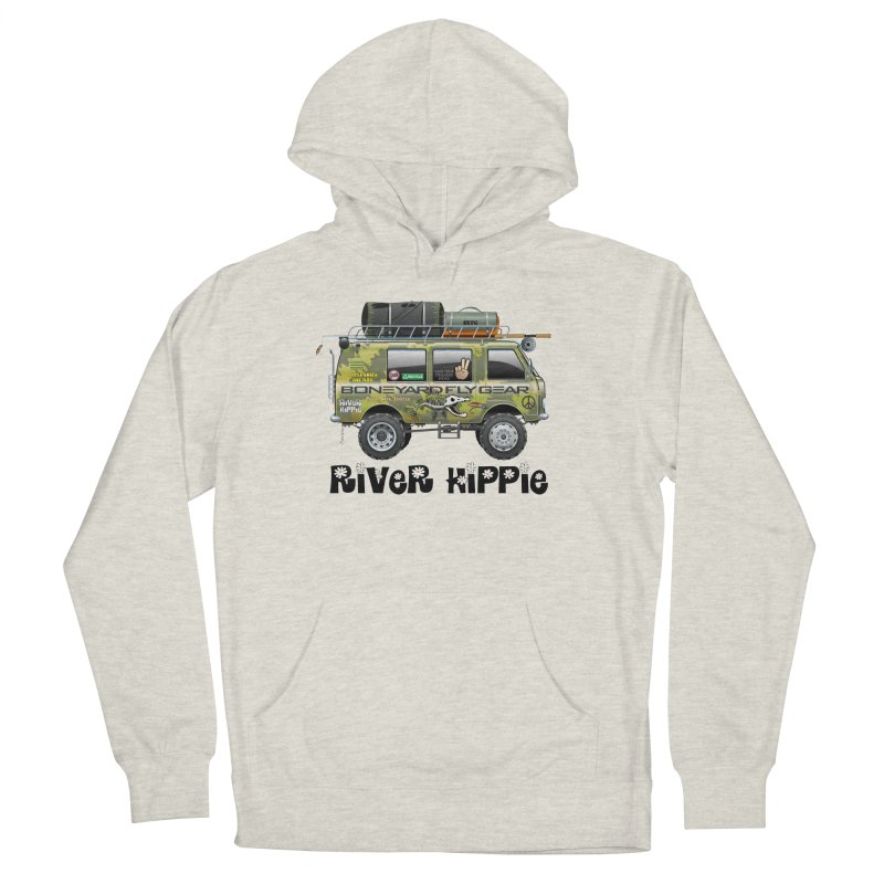 River Hippie Men's Pullover Hoody by Boneyard Studio - Boneyard Fly Gear