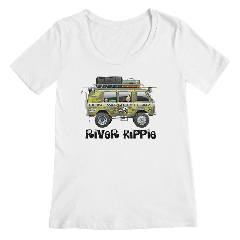 River Hippie Women's Regular Scoop Neck by Boneyard Studio - Boneyard Fly Gear