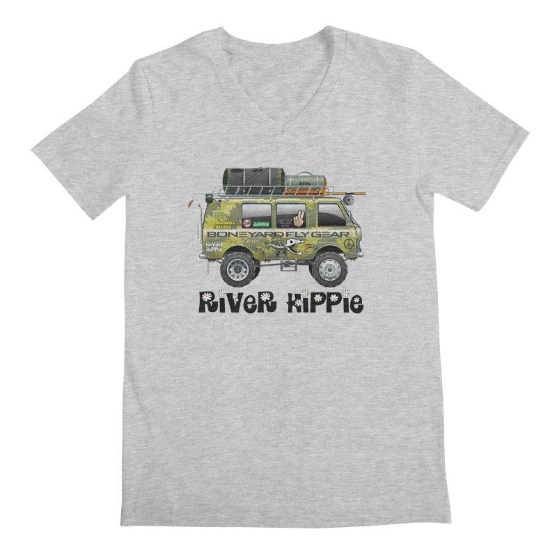 River Hippie Men's Regular V-Neck by Boneyard Studio - Boneyard Fly Gear
