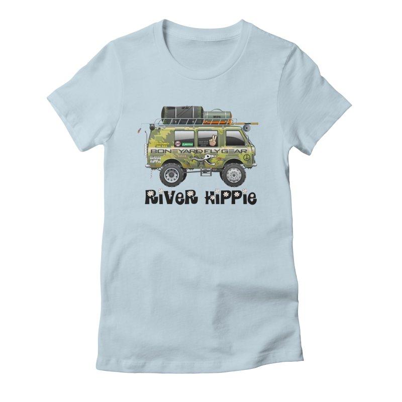 River Hippie Women's Fitted T-Shirt by Boneyard Studio - Boneyard Fly Gear