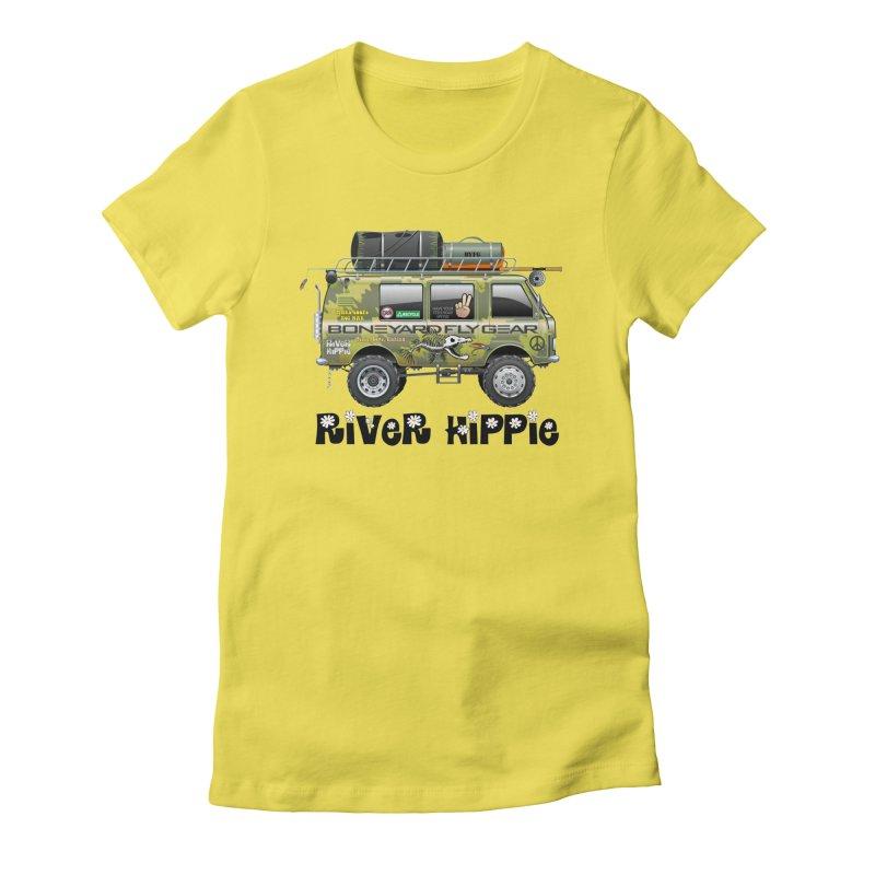 River Hippie Women's T-Shirt by Boneyard Studio - Boneyard Fly Gear