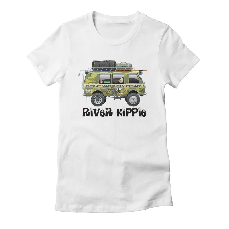 River Hippie Women's Fitted T-Shirt by Boneyard Studio - Boneyard Fly Gear