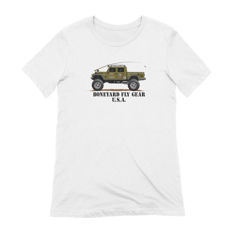 Gladiator Guide Rig Women's T-Shirt by Boneyard Studio - Boneyard Fly Gear