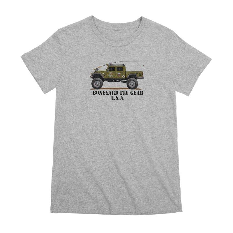 Gladiator Guide Rig Women's Premium T-Shirt by Boneyard Studio - Boneyard Fly Gear