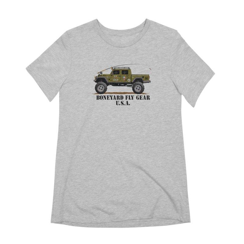 Gladiator Guide Rig Women's Extra Soft T-Shirt by Boneyard Studio - Boneyard Fly Gear