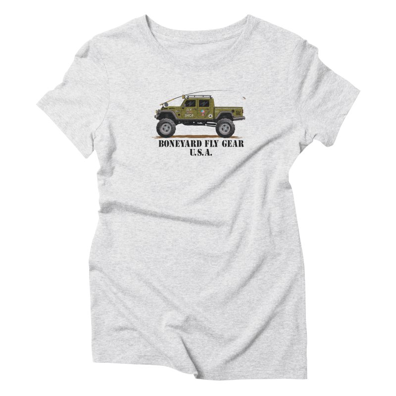 Gladiator Guide Rig Women's Triblend T-Shirt by Boneyard Studio - Boneyard Fly Gear