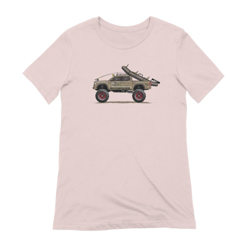 Tacoma Adventure Women's Extra Soft T-Shirt by Boneyard Studio - Boneyard Fly Gear