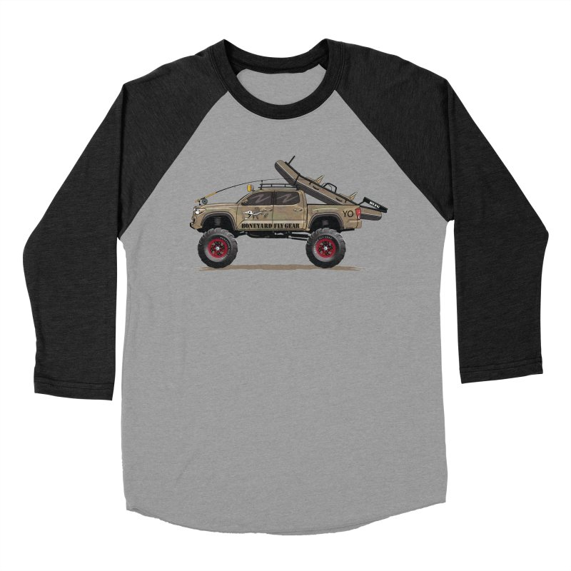 Tacoma Adventure Women's Baseball Triblend Longsleeve T-Shirt by Boneyard Studio - Boneyard Fly Gear