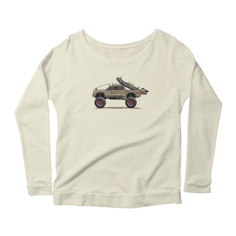 Tacoma Adventure Women's Scoop Neck Longsleeve T-Shirt by Boneyard Studio - Boneyard Fly Gear