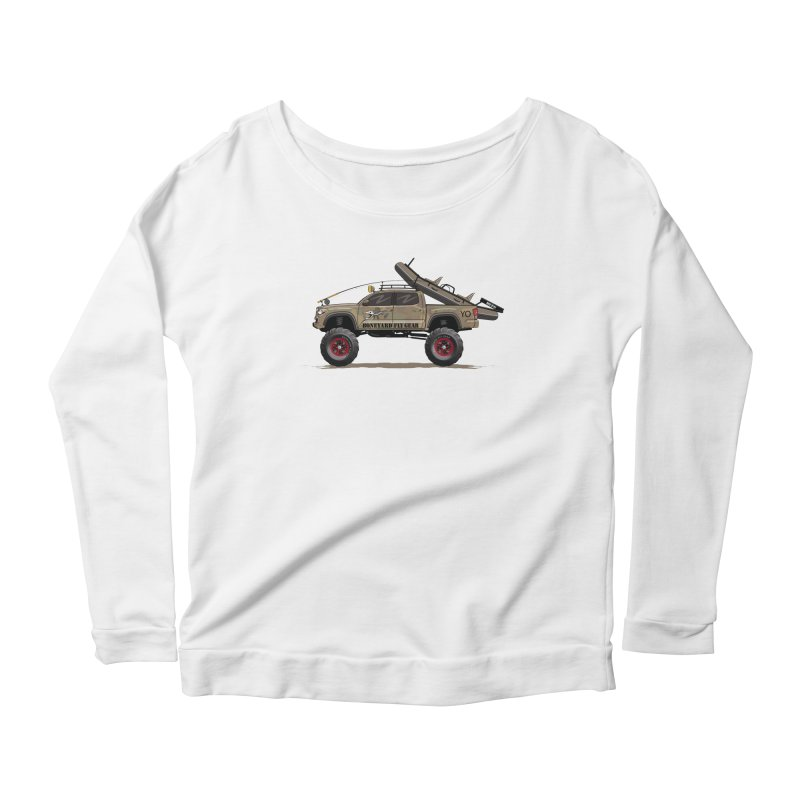 Tacoma Adventure Women's Scoop Neck Longsleeve T-Shirt by Boneyard Studio - Boneyard Fly Gear