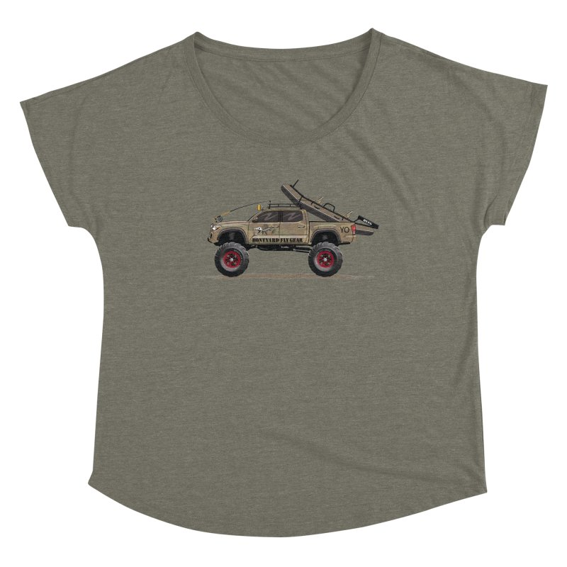 Tacoma Adventure Women's Dolman Scoop Neck by Boneyard Studio - Boneyard Fly Gear