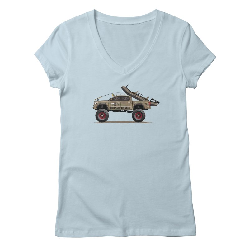 Tacoma Adventure Women's Regular V-Neck by Boneyard Studio - Boneyard Fly Gear