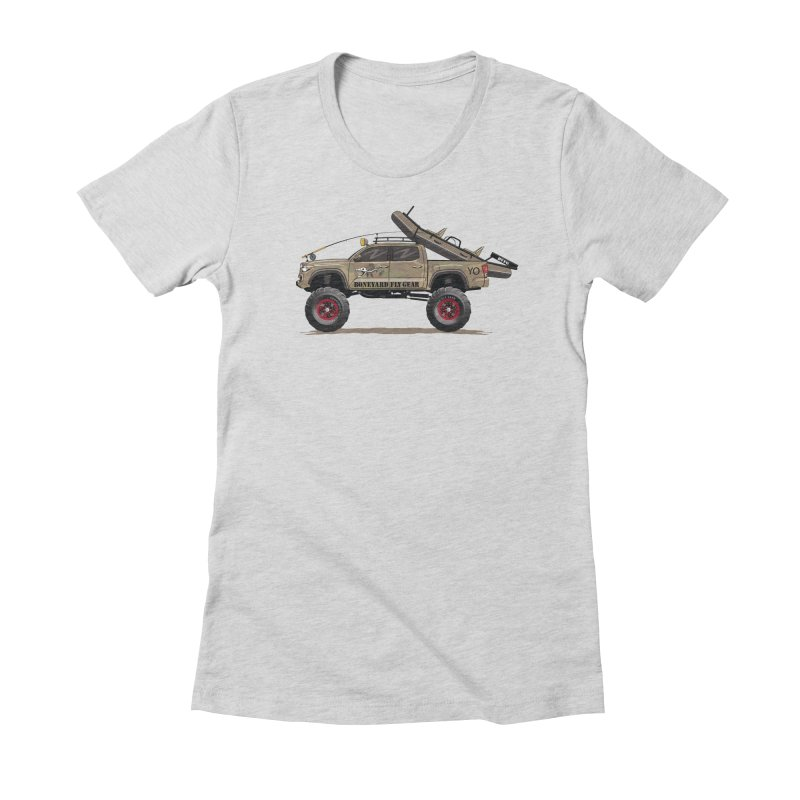 Tacoma Adventure Women's Fitted T-Shirt by Boneyard Studio - Boneyard Fly Gear