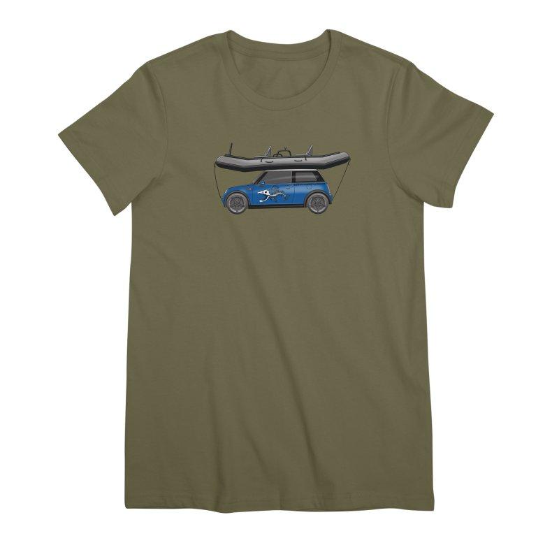 Mini Cooper Adventure Rig Women's Premium T-Shirt by Boneyard Studio - Boneyard Fly Gear