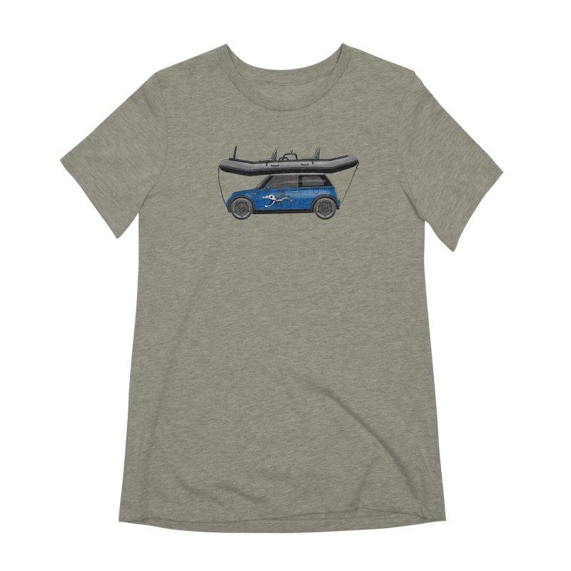 Mini Cooper Adventure Rig Women's Extra Soft T-Shirt by Boneyard Studio - Boneyard Fly Gear