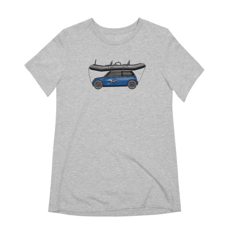 Mini Cooper Adventure Rig Women's Extra Soft T-Shirt by Boneyard Studio - Boneyard Fly Gear