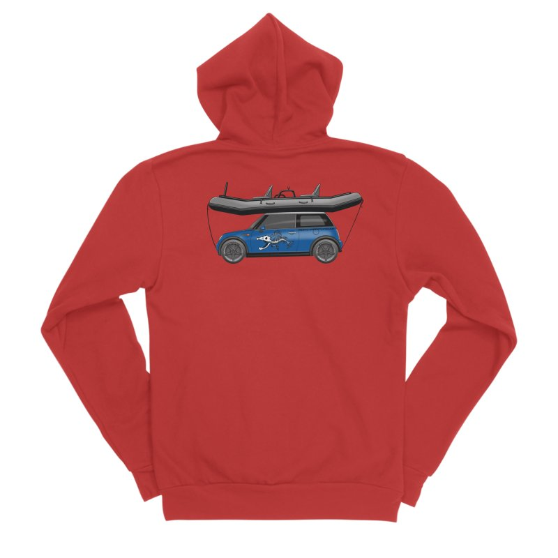 Mini Cooper Adventure Rig Women's Zip-Up Hoody by Boneyard Studio - Boneyard Fly Gear