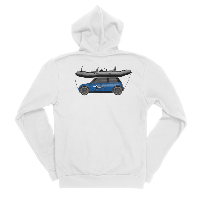 Mini Cooper Adventure Rig Women's Sponge Fleece Zip-Up Hoody by Boneyard Studio - Boneyard Fly Gear