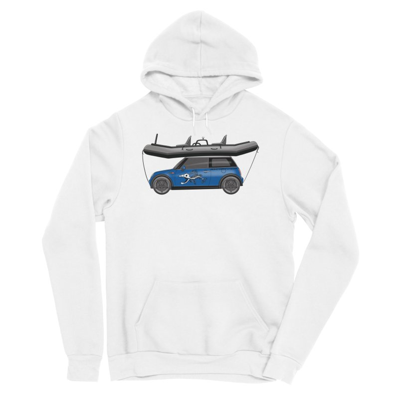 Mini Cooper Adventure Rig Women's Sponge Fleece Pullover Hoody by Boneyard Studio - Boneyard Fly Gear