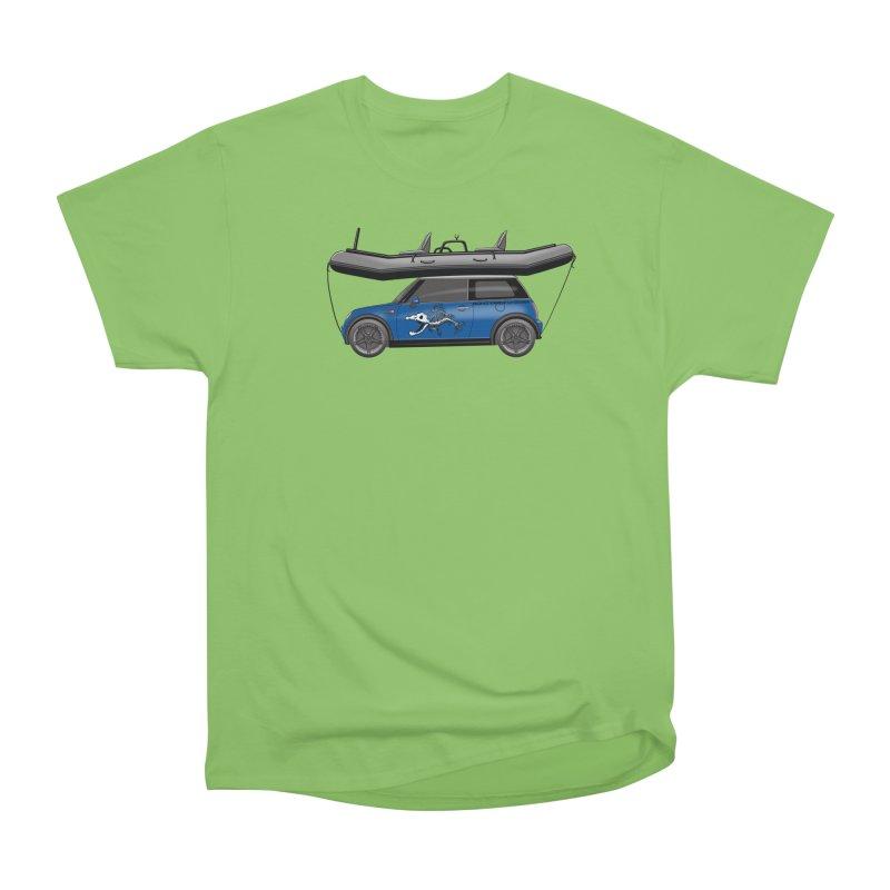 Mini Cooper Adventure Rig Women's Heavyweight Unisex T-Shirt by Boneyard Studio - Boneyard Fly Gear