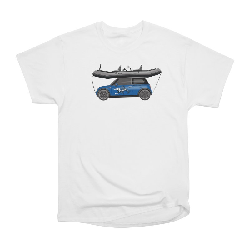 Mini Cooper Adventure Rig Women's Heavyweight Unisex T-Shirt by Boneyard Studio - Boneyard Fly Gear