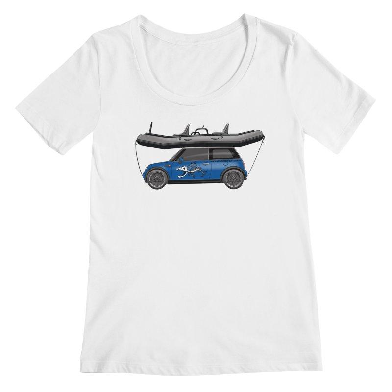 Mini Cooper Adventure Rig Women's Regular Scoop Neck by Boneyard Studio - Boneyard Fly Gear
