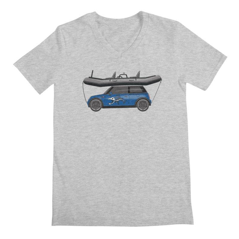 Mini Cooper Adventure Rig Men's V-Neck by Boneyard Studio - Boneyard Fly Gear