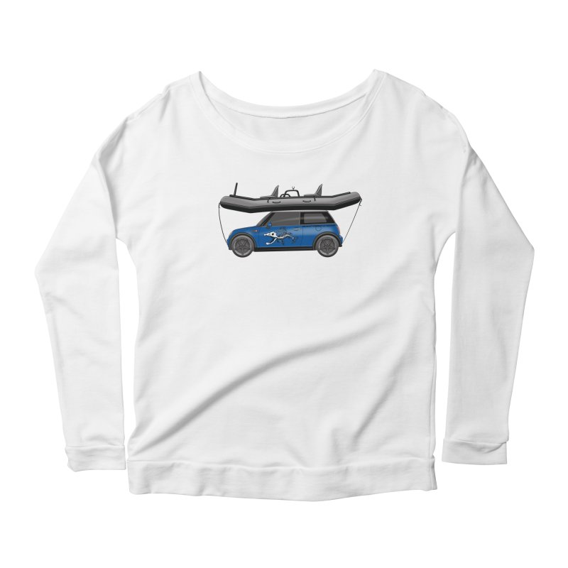 Mini Cooper Adventure Rig Women's Scoop Neck Longsleeve T-Shirt by Boneyard Studio - Boneyard Fly Gear