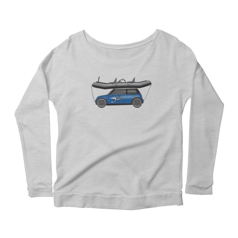 Mini Cooper Adventure Rig Women's Scoop Neck Longsleeve T-Shirt by Boneyard Studio - Boneyard Fly Gear