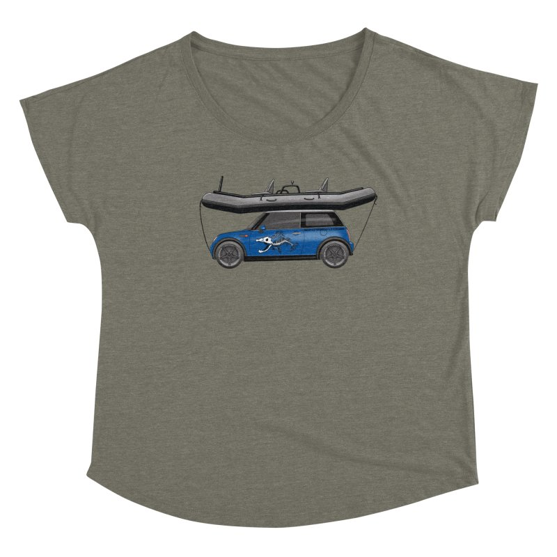 Mini Cooper Adventure Rig Women's Dolman Scoop Neck by Boneyard Studio - Boneyard Fly Gear