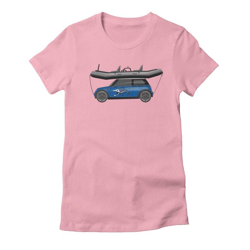 Mini Cooper Adventure Rig Women's Fitted T-Shirt by Boneyard Studio - Boneyard Fly Gear