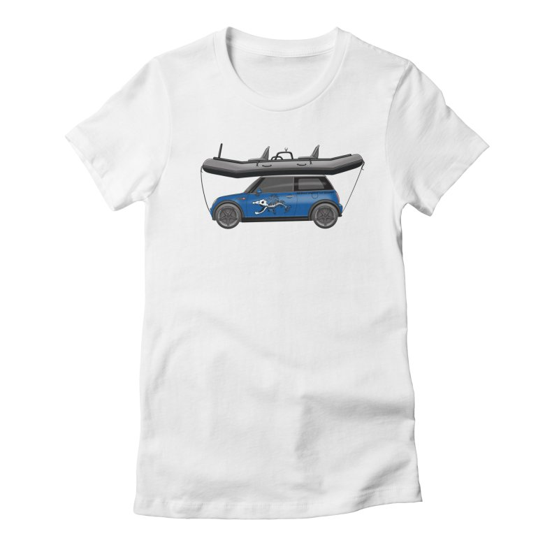 Mini Cooper Adventure Rig Women's Fitted T-Shirt by Boneyard Studio - Boneyard Fly Gear