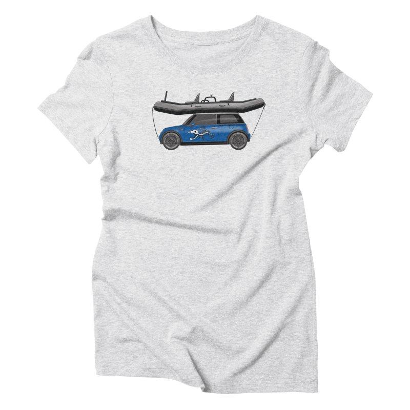 Mini Cooper Adventure Rig Women's Triblend T-Shirt by Boneyard Studio - Boneyard Fly Gear