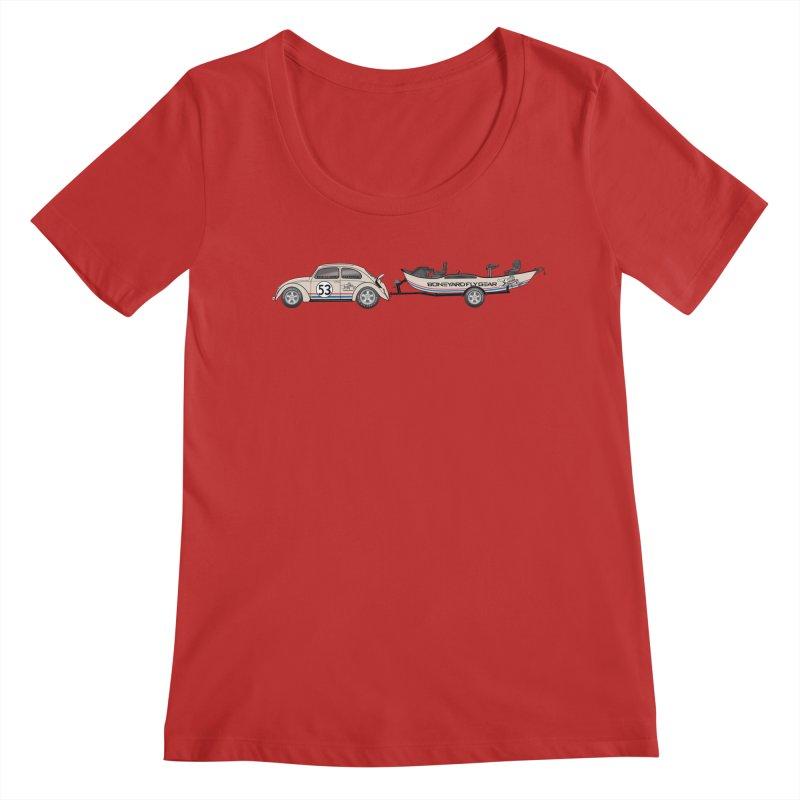 Herbie Drifter Women's Regular Scoop Neck by Boneyard Studio - Boneyard Fly Gear