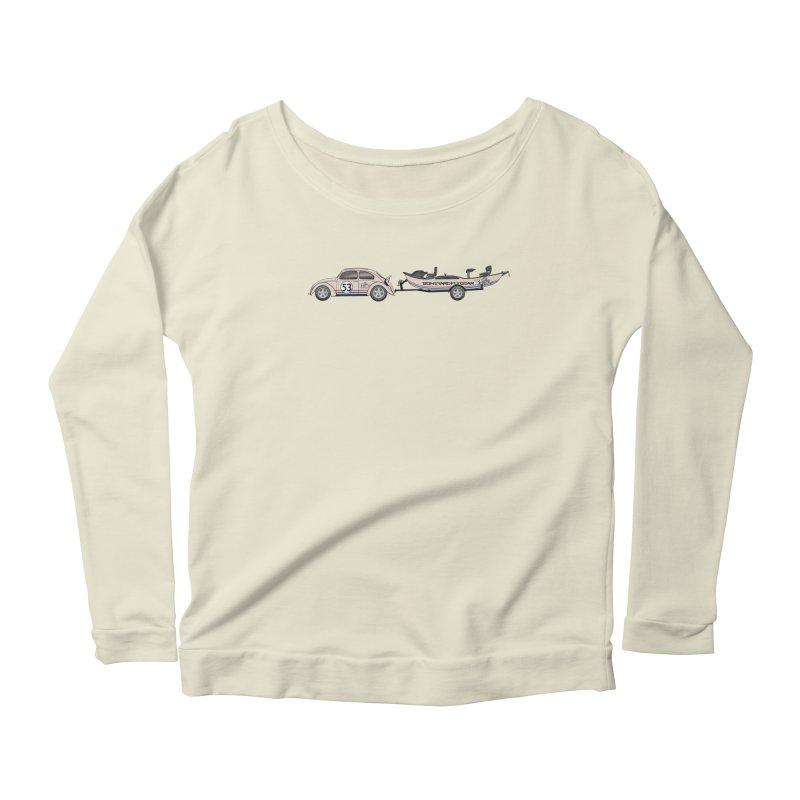 Herbie Drifter Women's Scoop Neck Longsleeve T-Shirt by Boneyard Studio - Boneyard Fly Gear