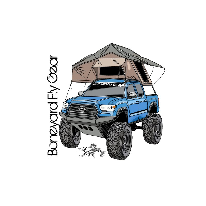 Toyota Tacoma Overlander Women's V-Neck by Boneyard Studio - Boneyard Fly Gear