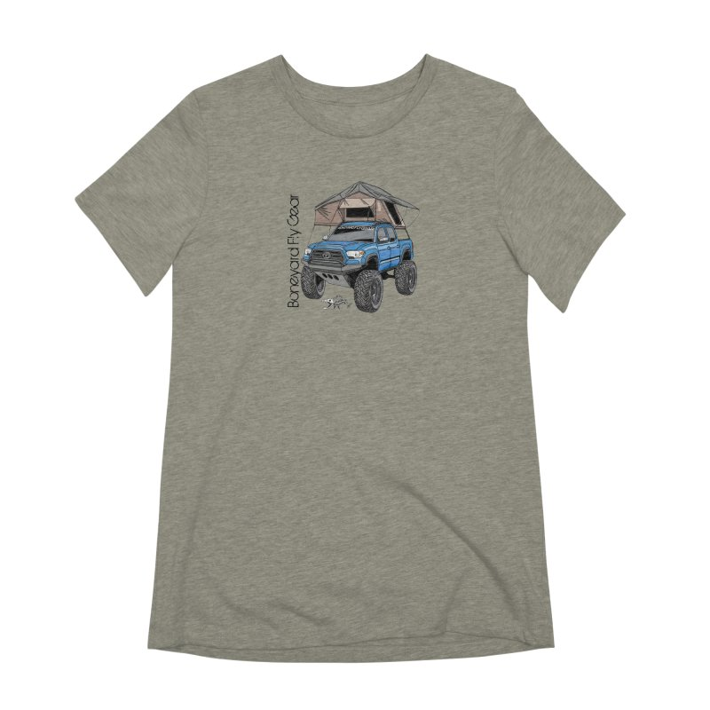 Toyota Tacoma Overlander Women's Extra Soft T-Shirt by Boneyard Studio - Boneyard Fly Gear