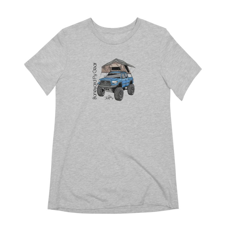 Toyota Tacoma Overlander Women's Extra Soft T-Shirt by Boneyard Studio - Boneyard Fly Gear