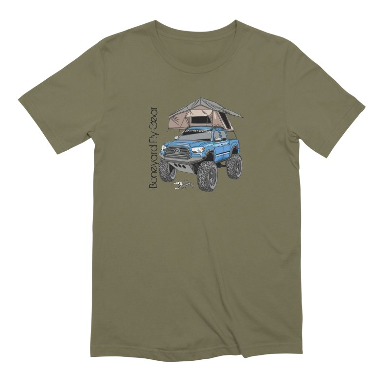 Toyota Tacoma Overlander Men's Extra Soft T-Shirt by Boneyard Studio - Boneyard Fly Gear