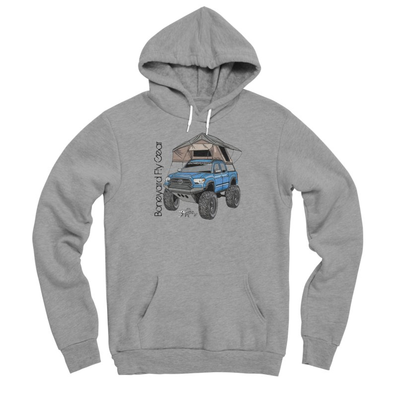 Toyota Tacoma Overlander Men's Sponge Fleece Pullover Hoody by Boneyard Studio - Boneyard Fly Gear