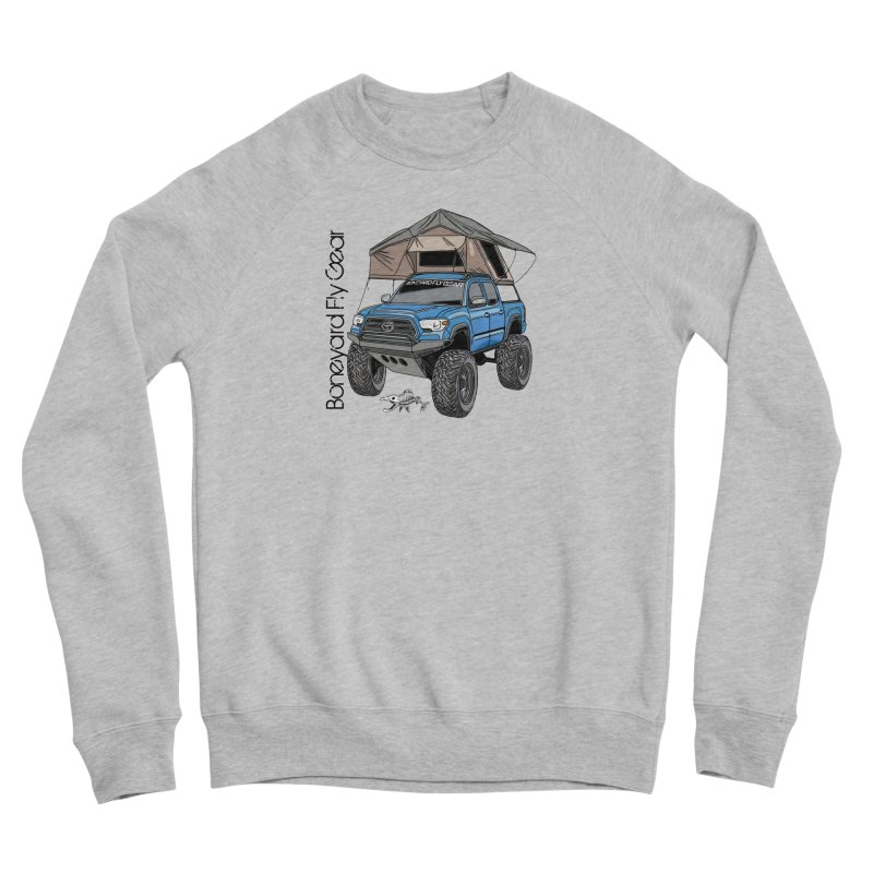 Toyota Tacoma Overlander Men's Sponge Fleece Sweatshirt by Boneyard Studio - Boneyard Fly Gear