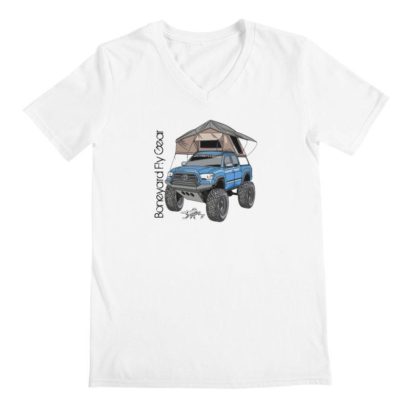 Toyota Tacoma Overlander Men's V-Neck by Boneyard Studio - Boneyard Fly Gear