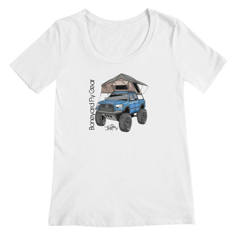 Toyota Tacoma Overlander Women's Regular Scoop Neck by Boneyard Studio - Boneyard Fly Gear