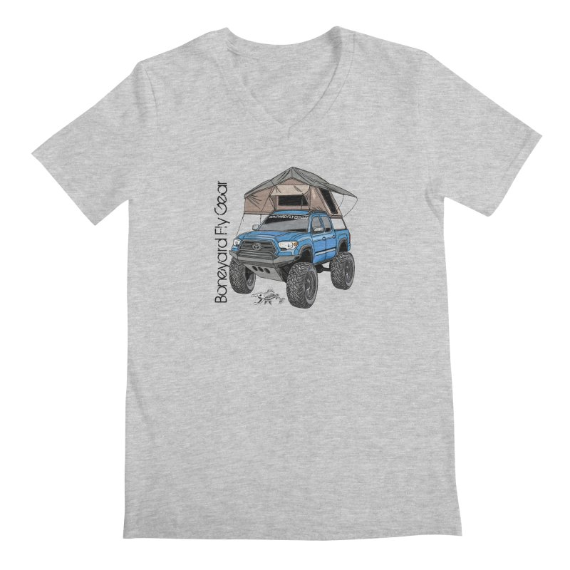Toyota Tacoma Overlander Men's Regular V-Neck by Boneyard Studio - Boneyard Fly Gear