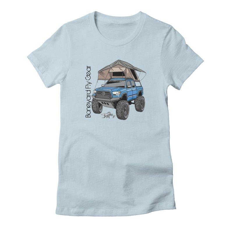 Toyota Tacoma Overlander Women's T-Shirt by Boneyard Studio - Boneyard Fly Gear