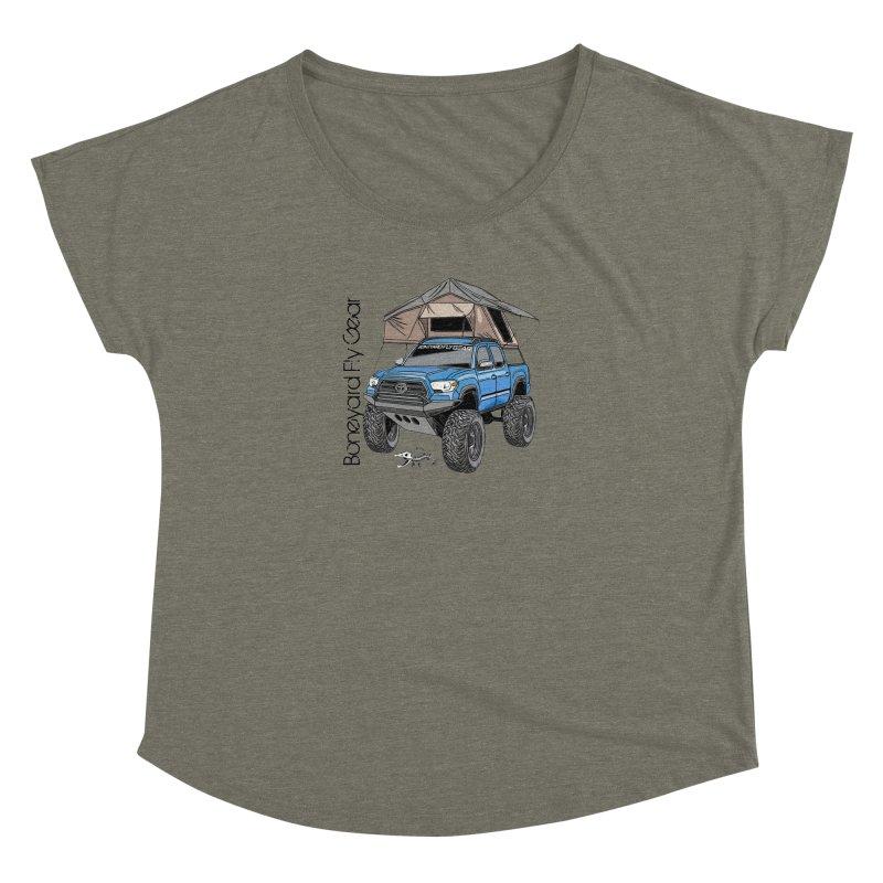 Toyota Tacoma Overlander Women's Scoop Neck by Boneyard Studio - Boneyard Fly Gear