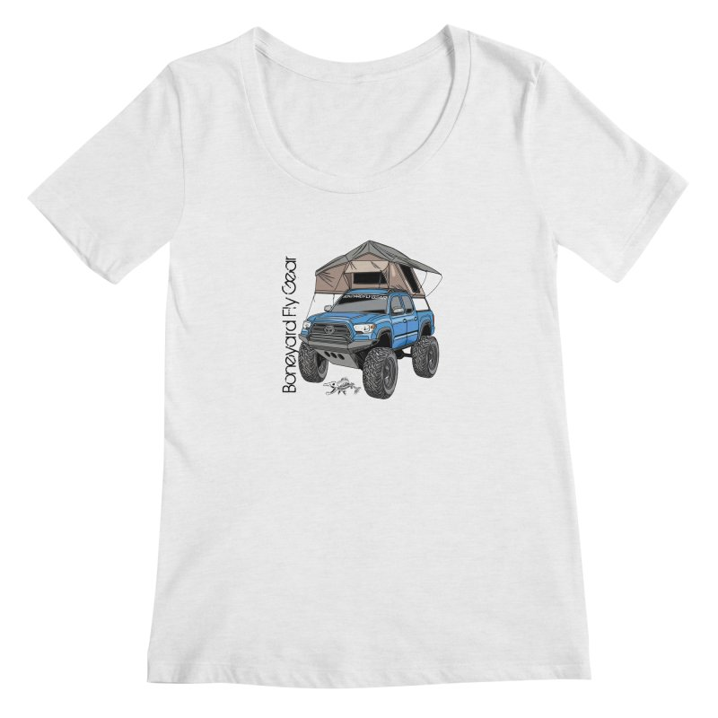 Toyota Tacoma Overlander Women's Scoop Neck by Boneyard Studio - Boneyard Fly Gear