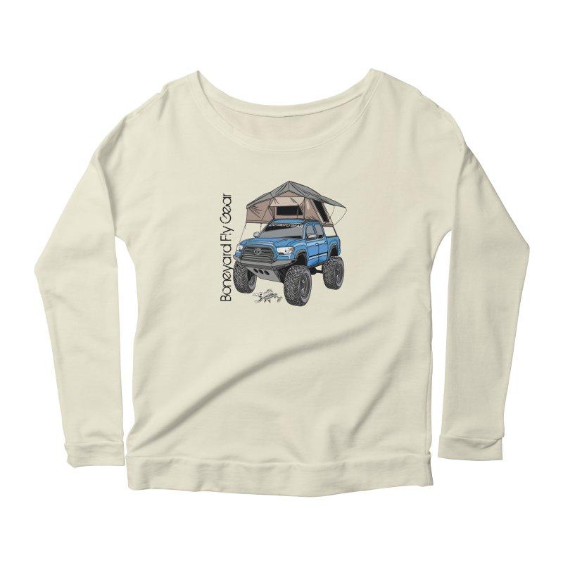 Toyota Tacoma Overlander Women's Scoop Neck Longsleeve T-Shirt by Boneyard Studio - Boneyard Fly Gear