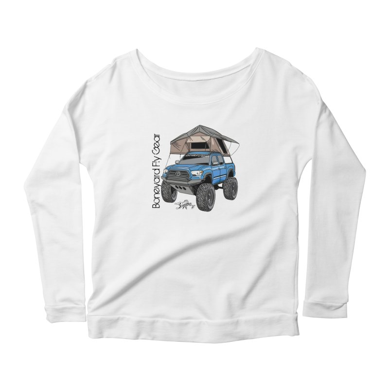 Toyota Tacoma Overlander Women's Scoop Neck Longsleeve T-Shirt by Boneyard Studio - Boneyard Fly Gear